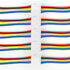 5 <b>sets</b> Micro JST 1.25mm 2-Pin to <b>6</b>-<b>Pin</b> Connector plug with Wire ...