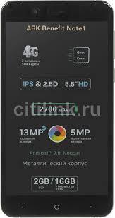 Смартфон <b>ARK</b> Note1 черный Купить недорого. Лучшая цена!