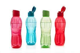 Signoraware Fliptop-Aqua Triangle Plastic Water Bottle Set, 1 Litre ...