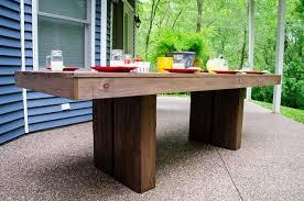 wood dining table plan furniture diy