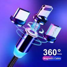 1M 2M <b>Fast Charging</b> Magnetic Cable Micro USB Type C <b>8 Pin</b> ...