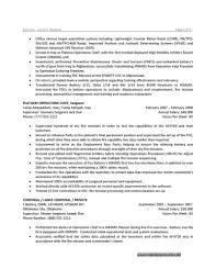example of military resume template example of military resume