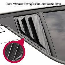<b>Car Styling 2PCS ABS</b> Plastic Rear Window Triangle Shutters Cover ...