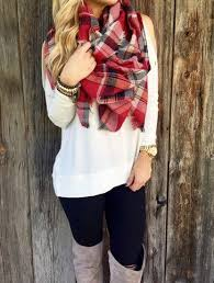 Image result for plain top with printed scarves pinrest