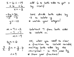 solving one step equations basic equations some