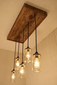 mason jar chandelier with reclaimed wood and 5 pendants r 1434 cmj 5 chandelier barn board
