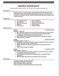 Free Cashier Resume Samples in Microsoft Word     Hloom com
