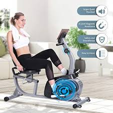 Maxkare Magnetic <b>Recumbent Exercise Bike Indoor Stationary Bike</b> ...