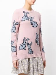 "<b>Prada</b> свитер вязки ""интарсия"" с кроликами | Вязаные джемперы ..."