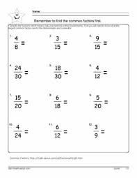 Reduce the Fraction Worksheets, 6th grade mathReduce Fractions - D.Russell