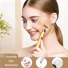 Brainbow <b>Beauty Bar 24k Golden</b> Pulse Facial Massager Beauty ...