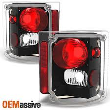 tail light tail lamp lens w chrome bezel trim pair set for 73 91 1978 1991 gmc jimmy chevy 1500 blazer pickup black tail lights replacement pair