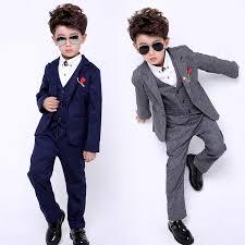 <b>2019 New</b> 3PCS(<b>Jacket</b>+<b>Vest</b>+<b>Pants</b>) Kids Wedding <b>Blazer</b> Suit ...