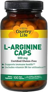 Country Life L-Arginine 500 mg with Vitamin B6-100 ... - Amazon.com