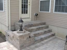 patio steps pea size x: paver patio for raised foundation house landscaping amp lawn care diy chatroom