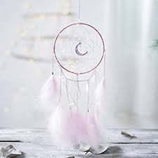 XiaoMtou Pink Feather Dream Catcher LED Fairy ... - Amazon.com