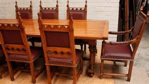 oak dining set french gothic room big table chairs best quality dining room furniture