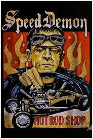 Kunstdrucke Antiquitäten & Kunst Speed Demon Mike Bell ...