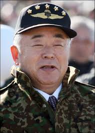 「Fumio Kyuma, Japan's defense minister at the time」の画像検索結果