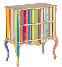 bright paint gives new life to this chair ainteriordesign bold stripes enliven this chest bright painted furniture