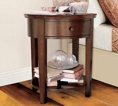 valencia oval bedside table pottery barn bed side furniture