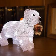 """Купить Акриловая <b>светодиодная фигура</b> """"<b>Медвежонок</b>"""" 24х11х18 ..."""