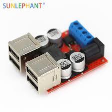 dc dc vehicle charging module 8v 35v 5v 8a power supply depressurization 4 port usb output mobile charger