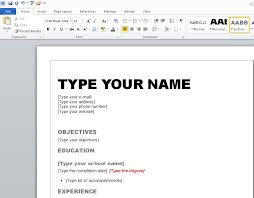 how to create a winning resume in microsoft word edit resume template