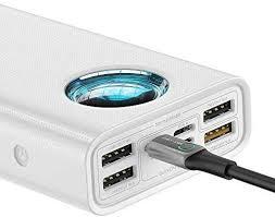 <b>Baseus 30000Mah</b> Amblight Quick charge <b>Powerbank</b>. 5 output ...