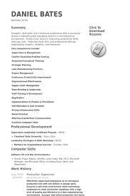 production supervisor resume samples   visualcv resume samples    production supervisor resume samples