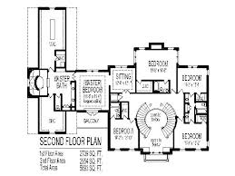 Grand Double Staircase House Floor Plans Bedroom Story Car    Colonial Home Plans Circular Stair SF Story bedroom Bathroom Car Garage