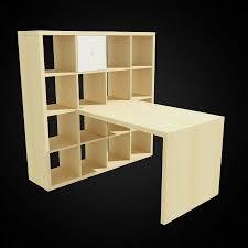 ikea expedit kallax shelving unit with desk birch effect office furniture equipment birch office furniture