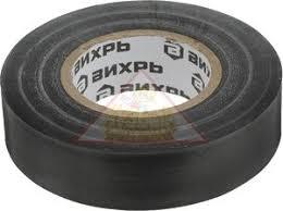 Изолента (10m * 15mm * 0,15mm) чёрный Вихрь