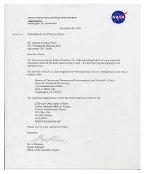 response letter from nasa