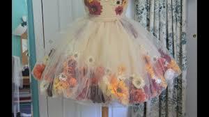 Making a Flower Fairy <b>Dress</b> - Part one - YouTube