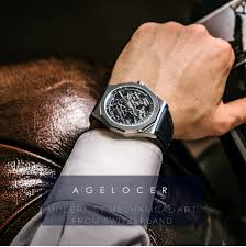 <b>AGELOCER</b> Swiss Luxury Watches Sport Men's <b>Skeleton</b> ...