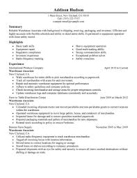 agriculture environment resume examples agriculture warehouse associate resume sample
