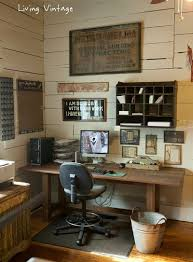 living vintage home office love the garbage can idea too specialtydoorscom attractive vintage home office