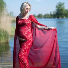 Lace <b>Long</b> Cape Maternity Gown Maternity <b>Maxi</b> Dress Maternity ...