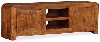 vidaXL Solid Wood TV Cabinet with Sheesham Finish ... - Amazon.com