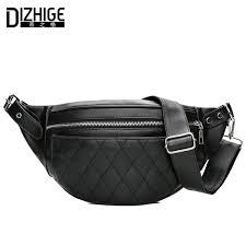 <b>DIZHIGE Brand Fashion Women</b> Packs Black PU Leather Fanny ...