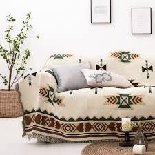 Хлопковая <b>мягкая накидка на</b> диван, чехол с кисточками, одеяло ...