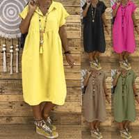 Casual Loose Linen Dress <b>Women</b> NZ