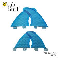 FCS Fins G5+GL Honeycomb Quilhas <b>Surfboard</b> Fins Surf Thruster ...