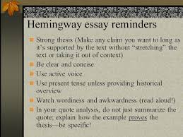 how to make a strong claim in an essay   essay hemingway essay reminders strong thesis make any claim you want