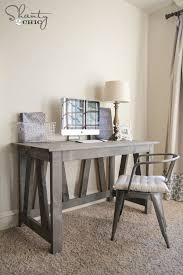 free woodworking plans diy desk build your own rustic furniture
