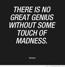 Genius quote/crazy runs in my family | Quotes...........some funny ...