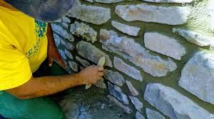 HOW TO BUILD NATURAL <b>STONE WALL</b>, RETAINING <b>ROCK</b> ...