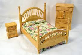 brass bed dollhouse miniature bedroom furniture