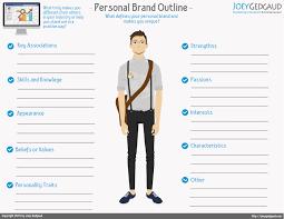 personal brand outline joey gedgaud